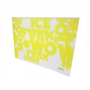 Sobre A4 De PP Color Amarillo Neon