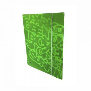 Carpeta Con 4 Anillas ,PP Verde Neon