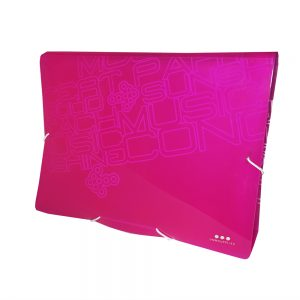Carpeta Con Fuelle A4, PP Rosa Neon