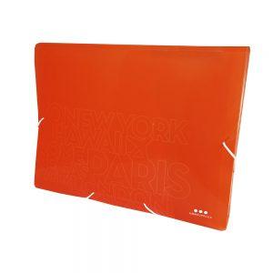 Carpeta Con Fuelle A4, PP Naranja Neon