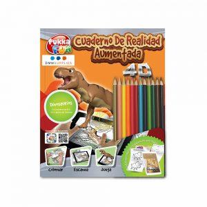 """Libro De Colorear 4D Interactivo """"Dinosaurios"""""""