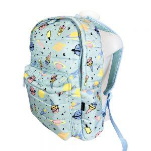 Dmm0057 mochila infantil acolchada azul