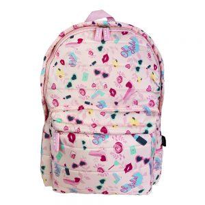 Dmm0057 mochila infantil acolchada pintalabios niñas