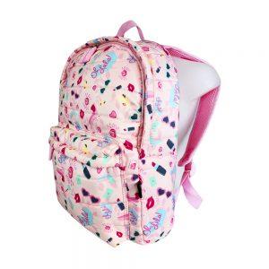 Dmm0057 mochila infantil acolchada pintalabios niñas lateral