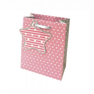 Bolsa Regalo Topitos Rosa(M) 18X23X10cm