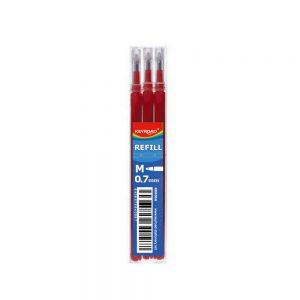 Recambio 3U Bolígrafo Borrable Rojo