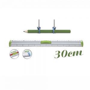 Regla Measure Clip 30 cm