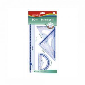 Set De Reglas 30 cm De Plástico Transparente