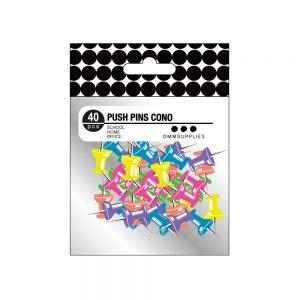 Push Pin Cono Multicolor 40 uds NEON