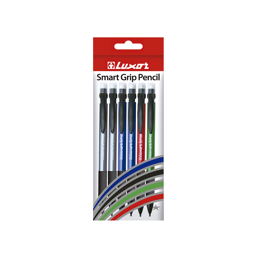 Luxor Smart Grip Pencil 6 uds surtido