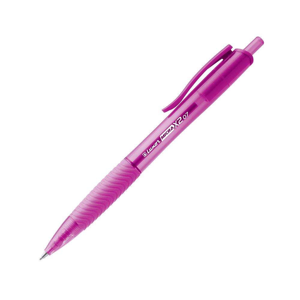 Luxor Micra X2 Ball Pen 0.5mm Rosa
