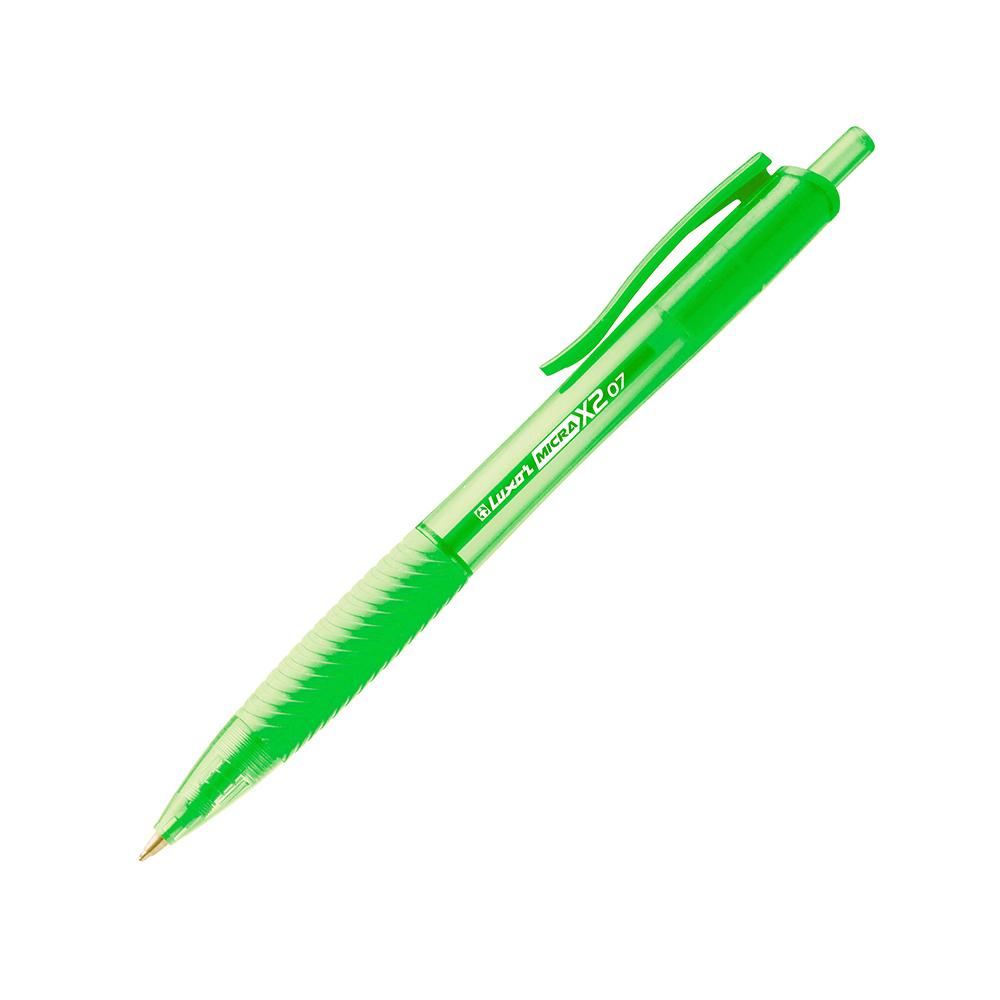 Luxor Mirca X2 Ball Pen 0.5mm Verde Pist.