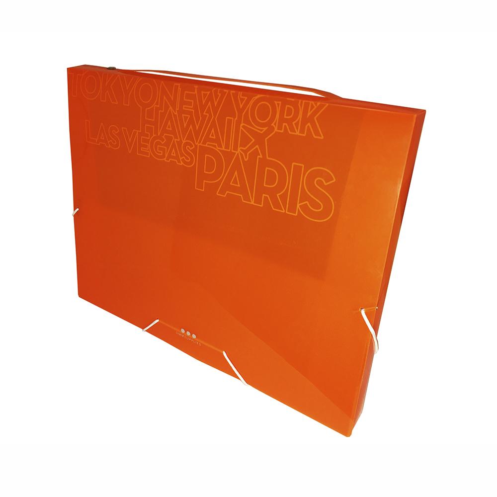 Carpeta De Proyectos Con Gomas, PP Amarillo Neon
