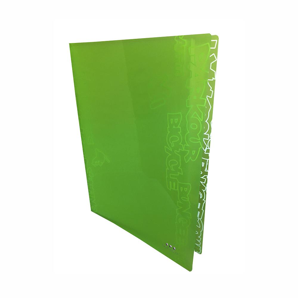 Carpeta Con 30 Fundas, PP Verde Neon
