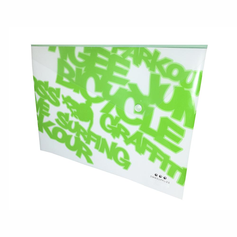 Sobre A4 De PP Color Verde Neon