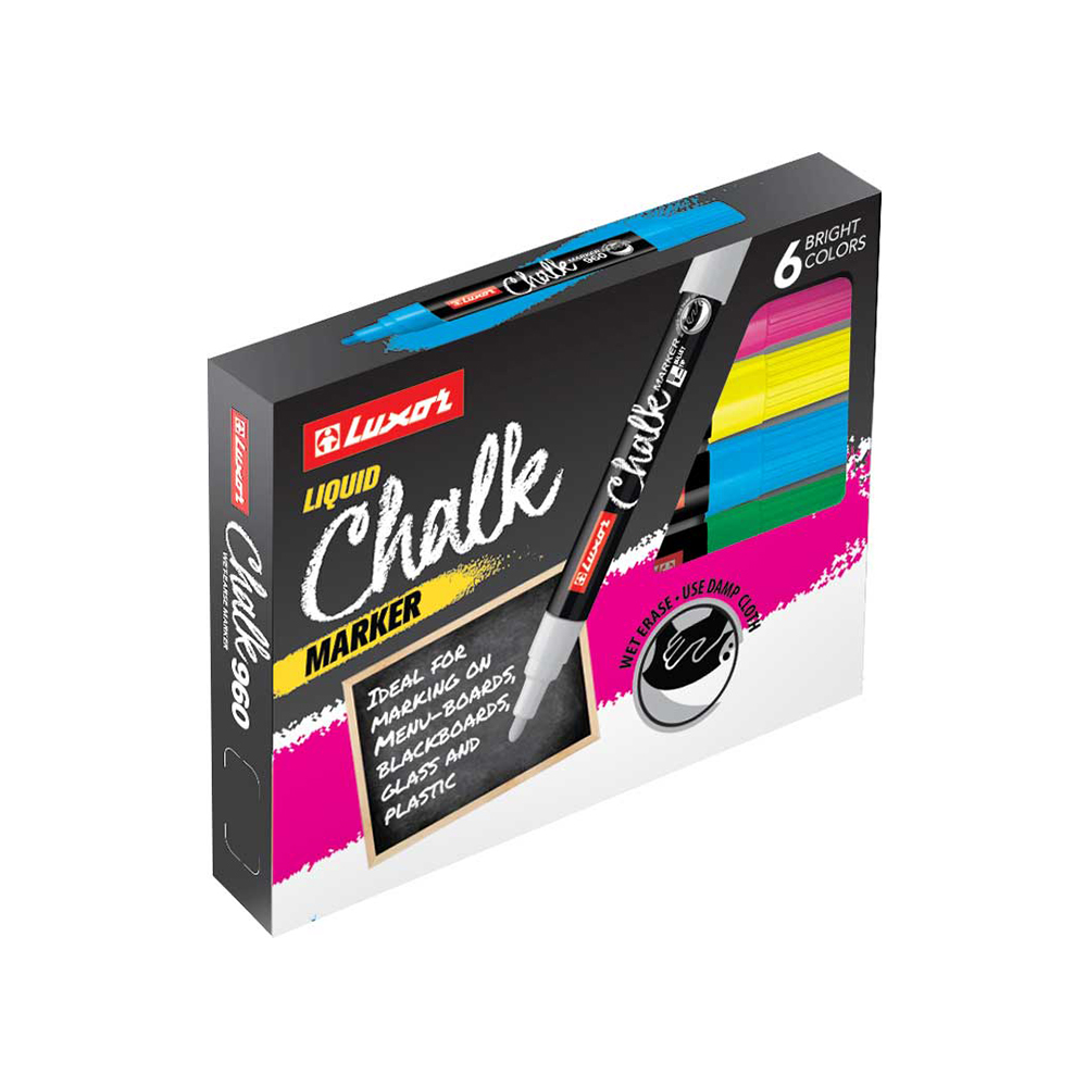 Luxor Chalk Wet-Erase Marker 6-Box