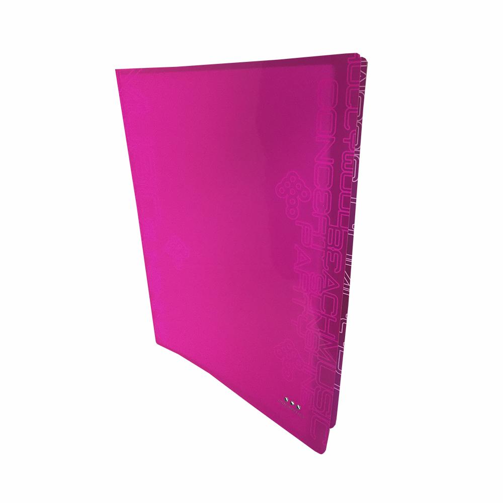 Carpeta Con 30 Fundas, PP Rosa Neon