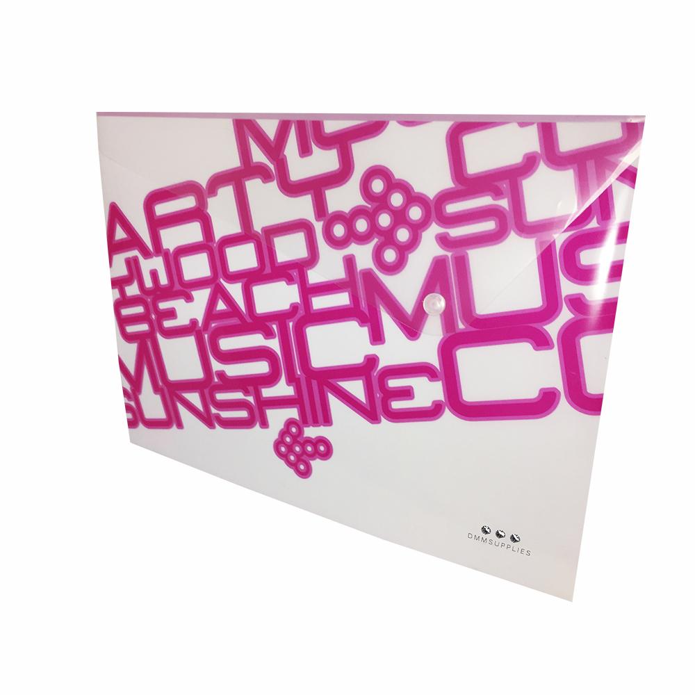 Sobre A4 De PP Color Rosa Neon