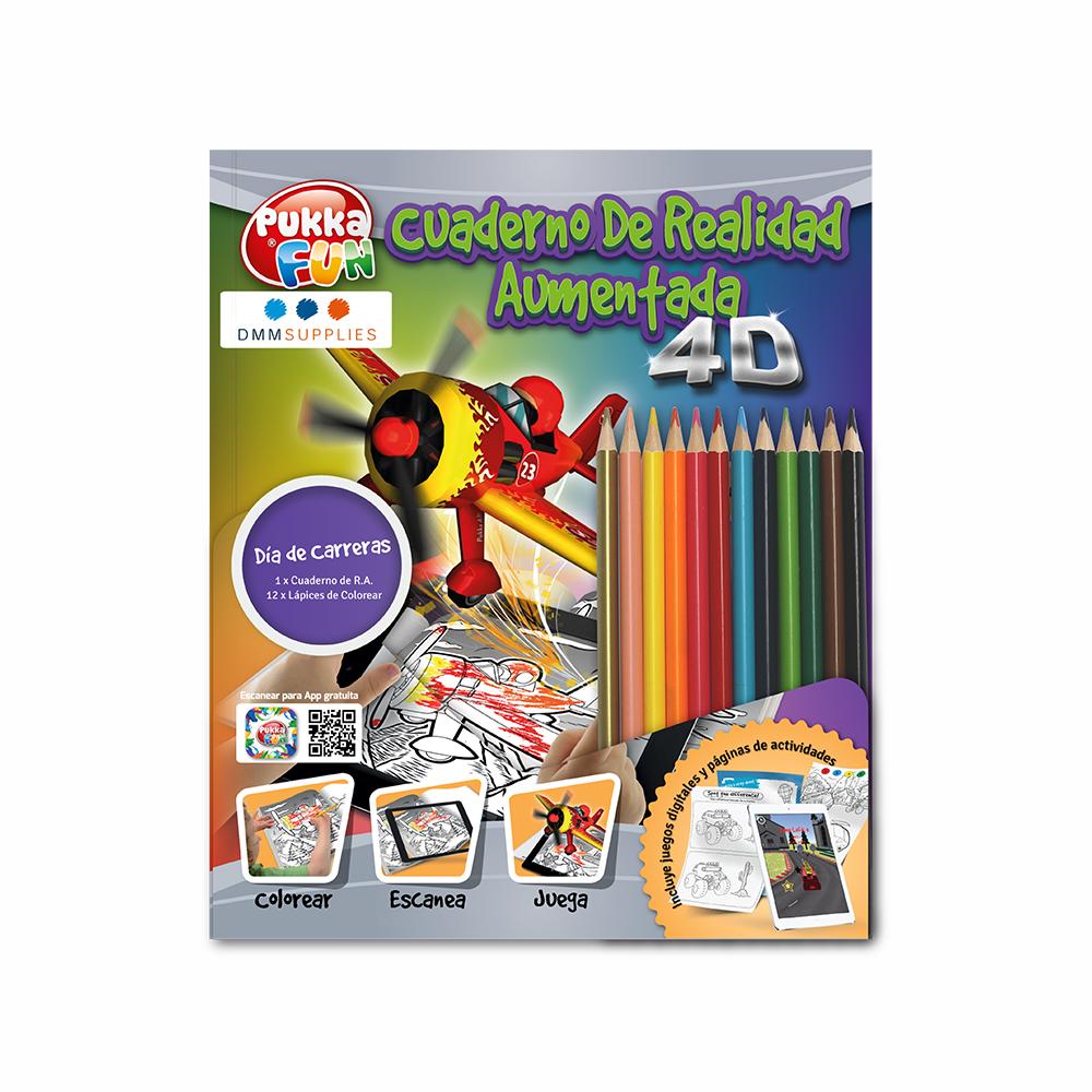 "Libro De Colorear 4D Interactivo ""Día de carreras"""