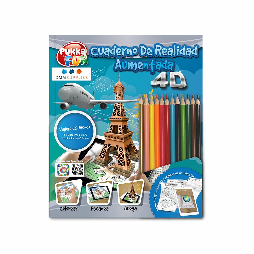 """Libro De Colorear 4D Interactivo """"Viajero del mundo"""""""