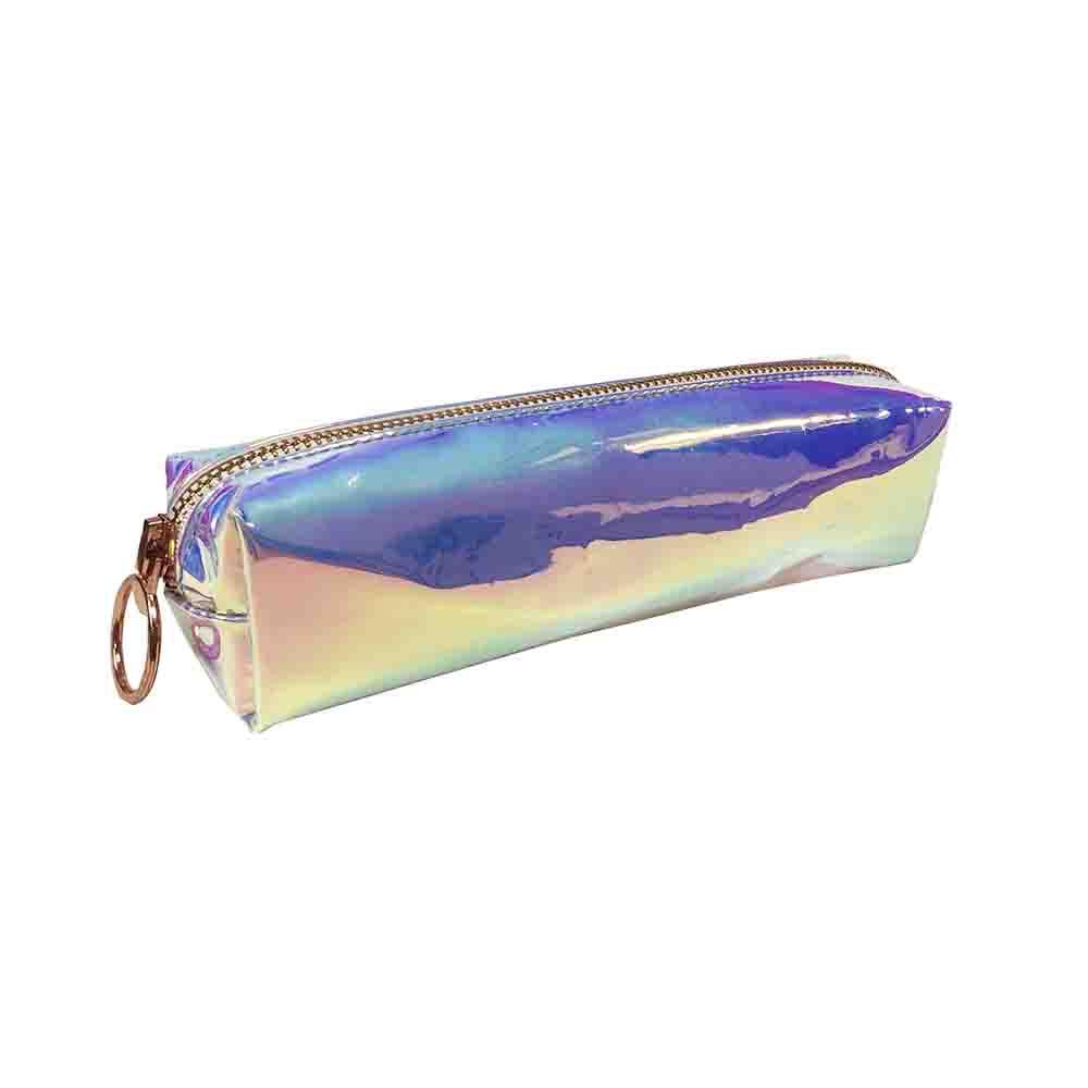 Portatodo 1 Cremallera Holograma Láser Plata