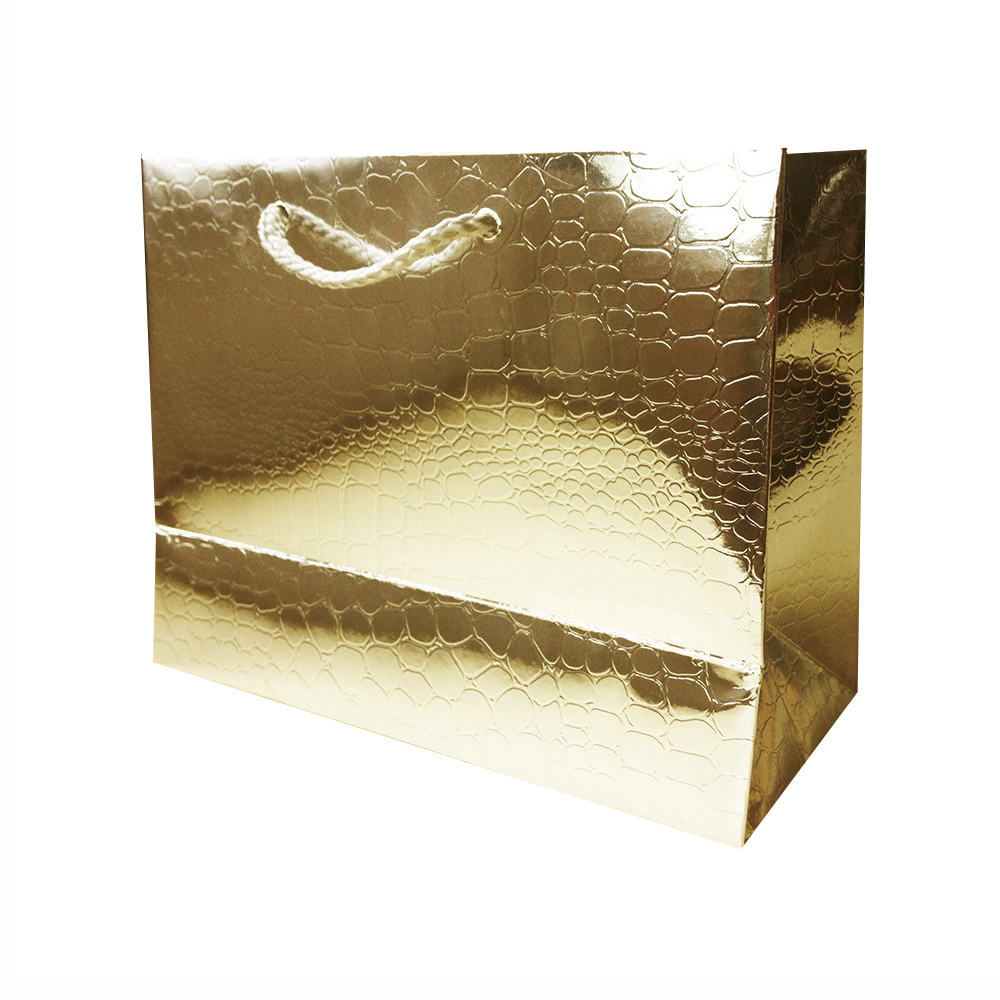 Bolsa Regalo Papel Dorado Brillo (L) 26X32X12cm