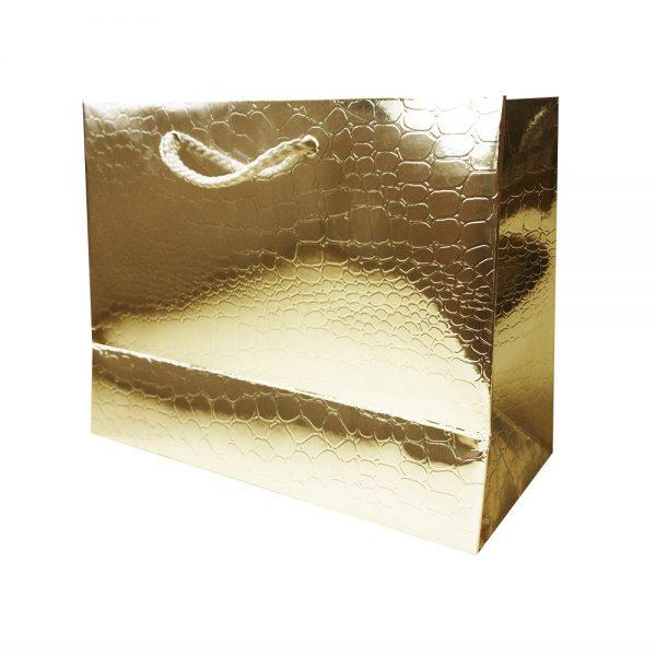 Bolsa Regalo Papel Dorado Brillo (M) 18X23X10cm