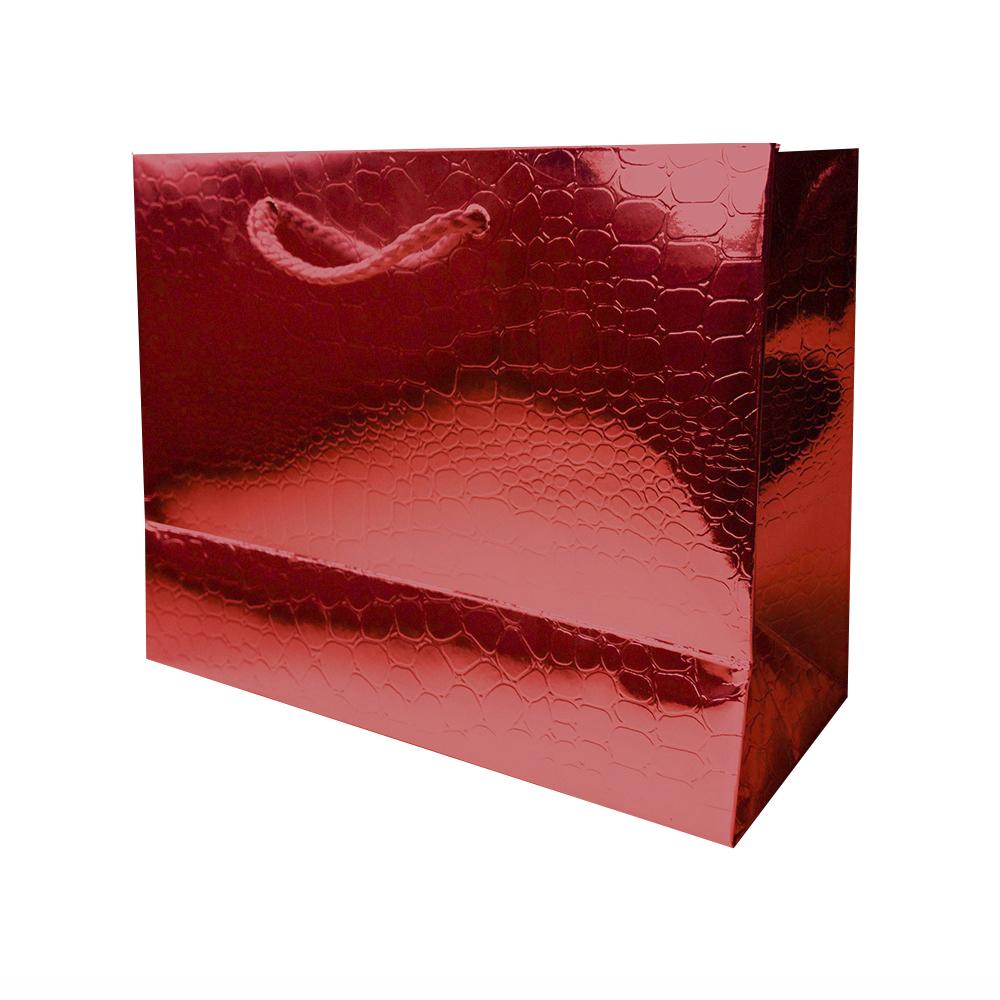 Bolsa Regalo Papel Rojo Brillo (M) 18X23X10cm