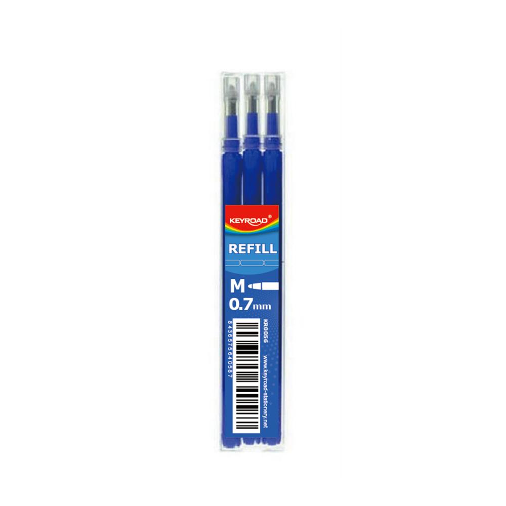 Recambio 3U Bolígrafo Borrable Azul