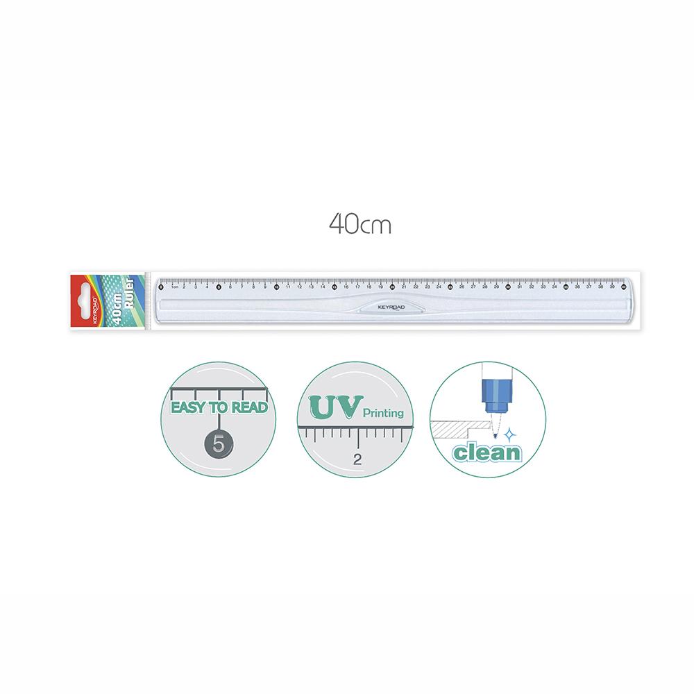 Regla 40 cm  De Plástico Transparente