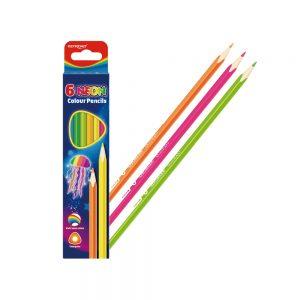 """Lápices triangulares colores neon """"Neon"""" (caja 6 uds)"""