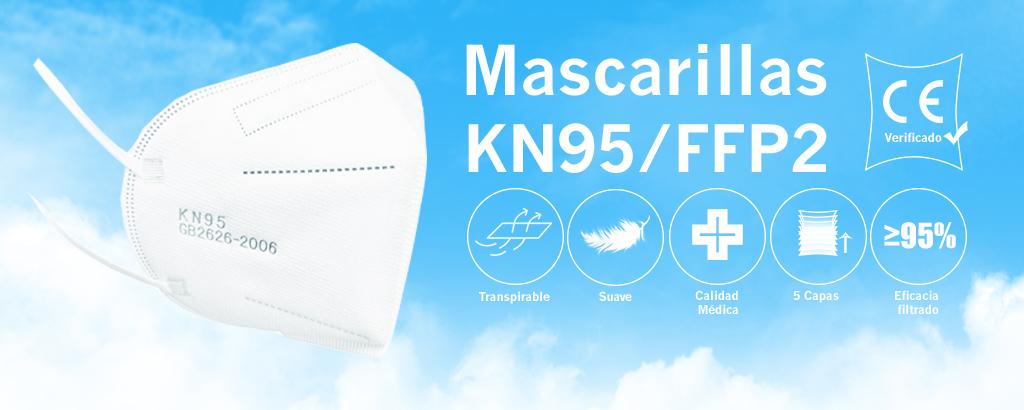 KN95 FFP mascarillas protección coronavirus